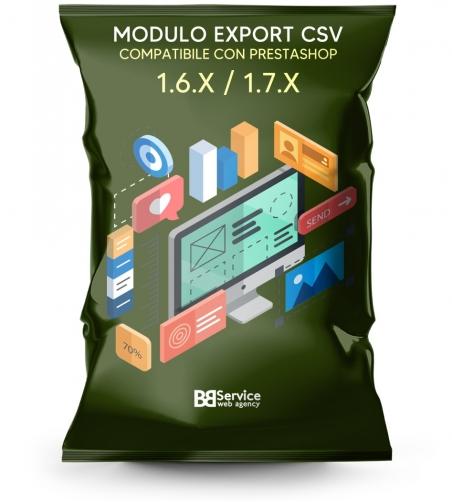 Modulo PrestaShop Estrazione Catalogo Prodotti Ordini e Clienti in CSV formato Excel OpenOffice Notepad